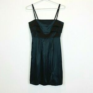 Review-Womens-Black-Sleeveless-Lined-Dress-with-Back-Zipper-Size-8