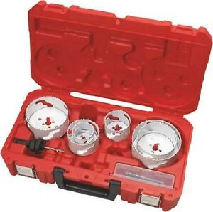 7 Pcs. MILWAUKEE 49-22-4088 Hole Dozer Electricians Hole Saw Kit