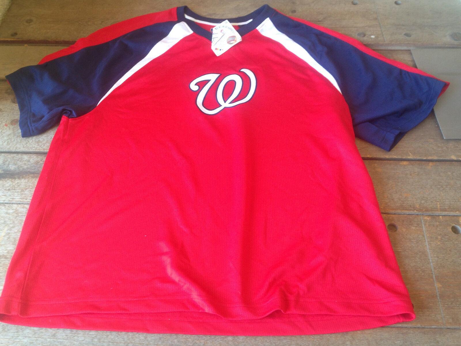Washington Nationals Baseball Jersey W Genuine Merchandise NWT ROT Weiß Blau XL