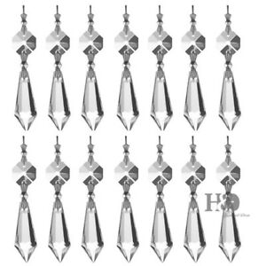 20-Clear-Crystal-Chandelier-Lamp-Icicle-Prisms-Parts-Hanging-Drops-Pendants-38mm