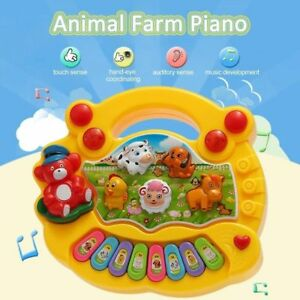 Baby Kid Musical Educational Animal Farm Piano Development Music Toy For Gift UK