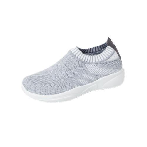 Women Ladies Mesh Slip On Sneakers Trainers Sport Elastic Pumps Breathable Shoes