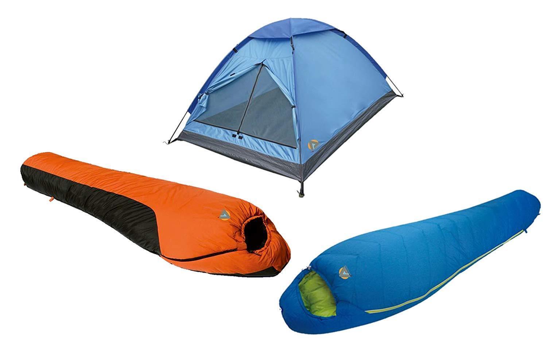 Alpinizmo High Peak USA Summit 20F & Mt. Rainier 0F  Sleeping Bags + 3 Tent Combo  unique design