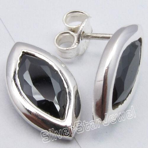925 Argent Léger Clous Boucles d/'oreilles Améthyste /& plus de choix des pierres précieuses variation
