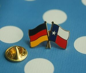 Deutschland-Texas-Freundschaftspin-Pin-Button-Badge-Anstecker-Flaggenpin-TOP