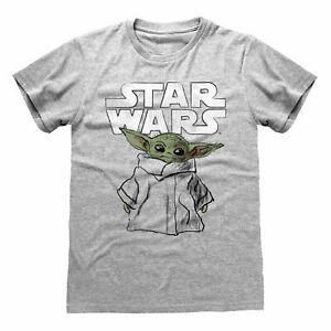 Star-Wars-Mandalorian-The-Child-Sketch-T-Shirt-Official-Baby-Yoda-NEW-SMLXLXXL