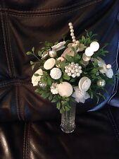 Vintage Button Bridal Bouquet~CUSTOM MADE FOR YOU~Wedding~Shower Decor~Keepsake