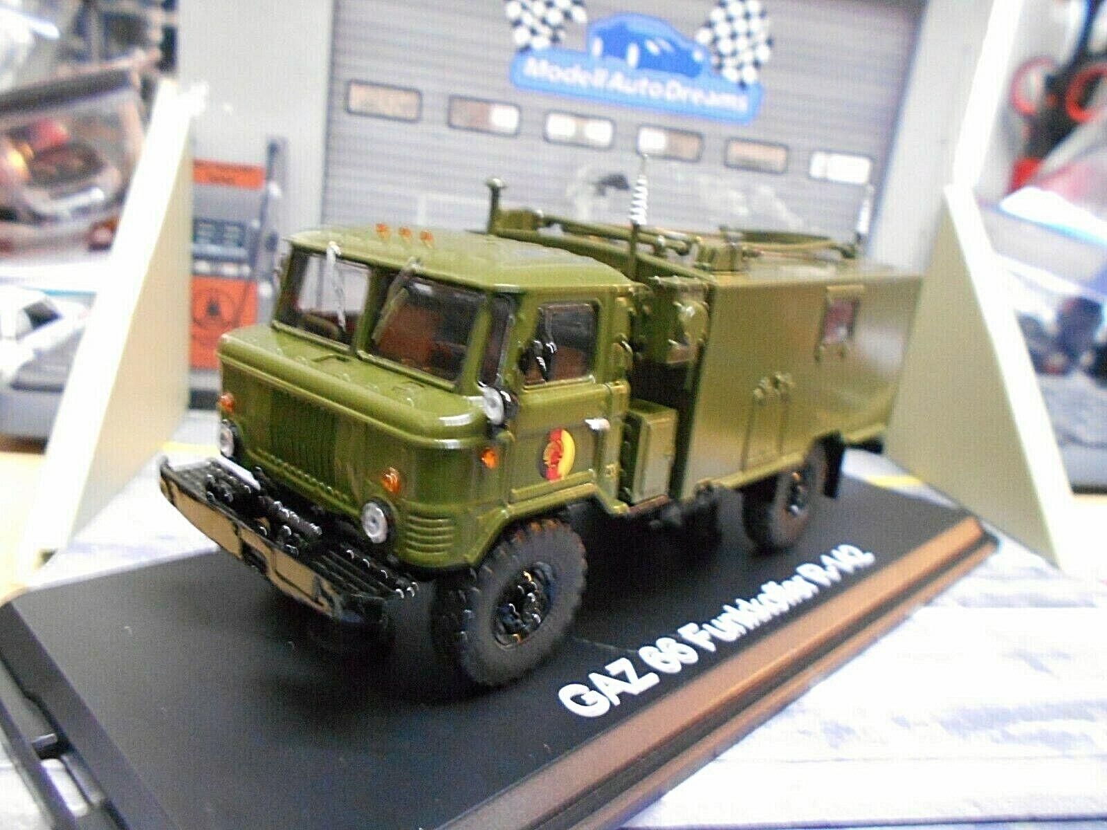 GAZ Volga 66 LKW Truck Funkkoffer R-142 NVA DDR Army Premium Classixs 1 43