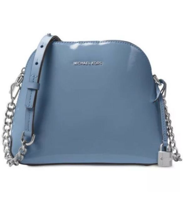 4b8e7a5016da NWT Michael Kors Studio Mercer Medium Dome Messenger Crossbody Bag Denim  Blue !