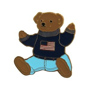 Ralph-Lauren-Polo-Bear-USA-flag-casual-pin-badge