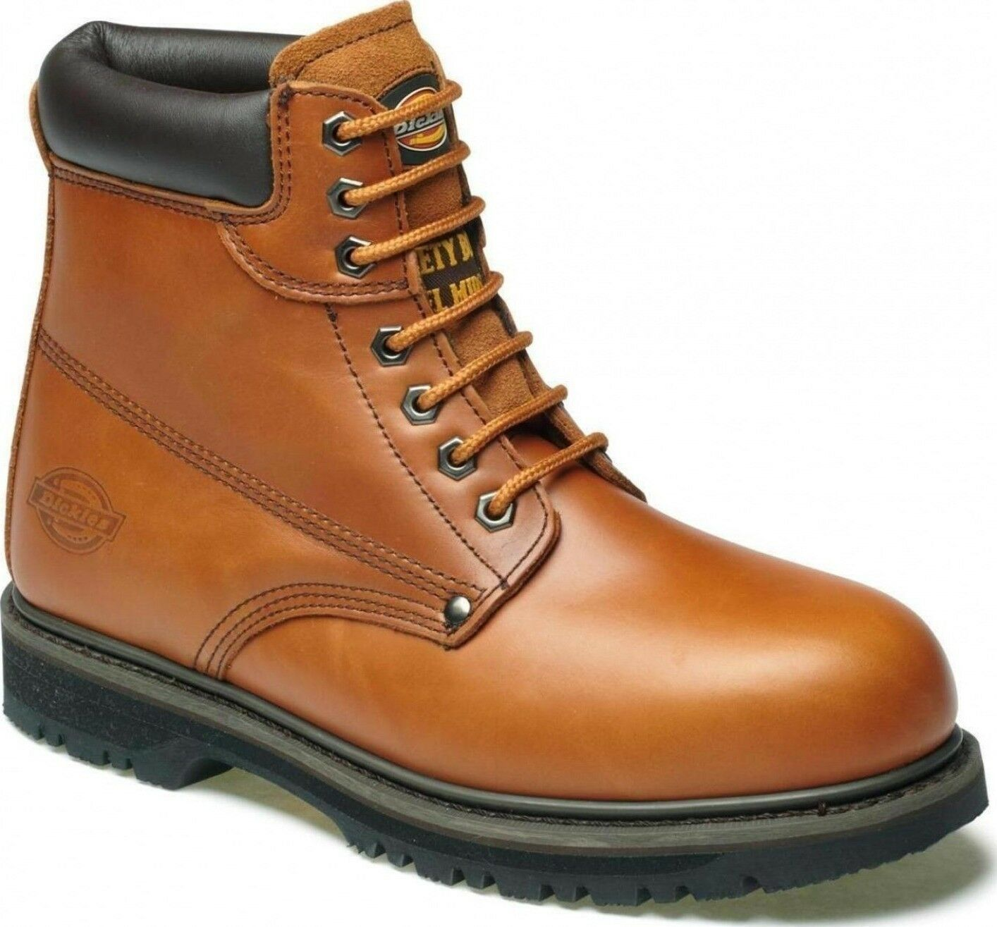 NEW MENS  DICKIES CLEVELAND  ANKLE SAFETY WORK BOOTS LEATHER STEEL TOE CAP