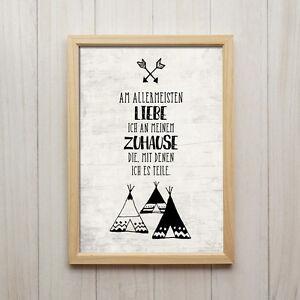 Details zu Bild Familie Spruch Kunstdruck Poster A4 Zuhause Kinderzimmer  Deko Geschenk
