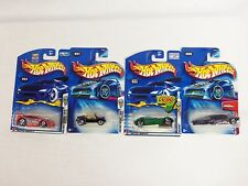 Lot of 4 Hot Wheels Mixed Assorted Carded Cars 2000's Slikt Back