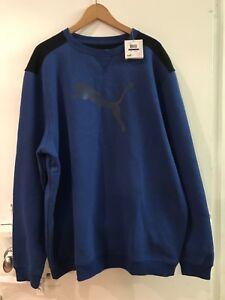 ce754be07 PUMA Mens Size XXL Big Cat Puma Logo Crewneck Sweatshirt Royal Blue ...