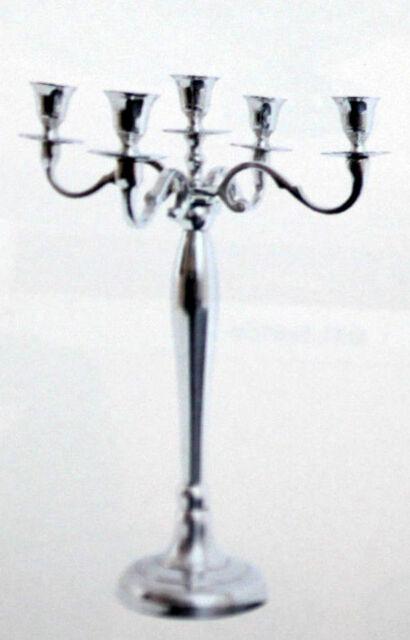 Kerzenständer Kerzenleuchter mehrarmig Deko poliertes Aluminium sehr edel Kerzen