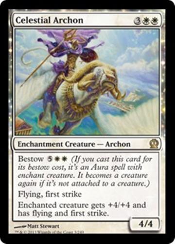 CELESTIAL ARCHON Theros MTG White Enchantment Creature — Archon RARE