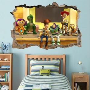 Toy Story Woody Buzz Lightyear Smashed Wall Decal Wall Sticker Art