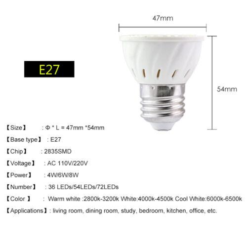 GU10 MR16 3W//4W//5W//6W//7W LED Spotlight Lamps Cool//Warm White Bulbs 12V//110V//220V