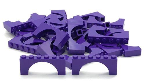 Lego 10 New Dark Purple Bricks Arch 1 x 6 x 2 Thin Top Arches Pieces