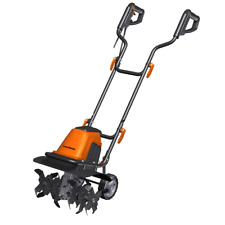 LawnMaster TE1016M Corded Electric Garden Tiller Cultivator   10-Amp   16 Inches