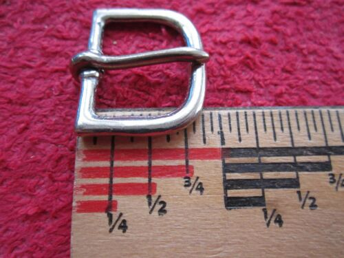 """USA MADE 15 VINTAGE NOS NORTH/&JUDD 7//8/"""" SIZE SOLID NICKEL HORSE BRIDLE BUCKLES"""