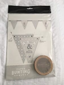 East-of-India-Paper-Bunting-Kit-039-To-Have-amp-To-Hold-039-Rustic-Wedding-Vintage