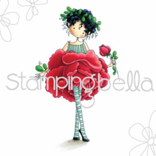 Stamping Bella Cling Stamps-Garden Girl Rose