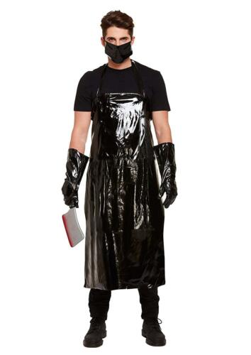 Mens Adult Scary Butcher Fancy Dress Costume Bloody Halloween Horror Apron Mask