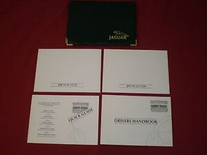 95-97 JAGUAR XJ/XJ6 VDP DRIVERS HANDBOOK MANUAL & (3) OTHER BOOKS w/POUCH