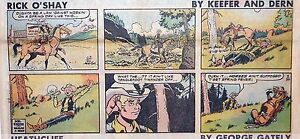 Rick-O-039-Shay-by-Keefer-amp-Dern-lot-of-12-full-color-Sunday-pages-from-early-1980