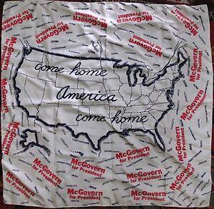 Government Politics Democrat Presidential Campaign George McGovern Silk Scarf