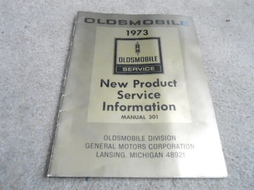 #MISC2350 1975 OLDSMOBILE NEW PRODUCT SERVICE INFORMATION CAR book