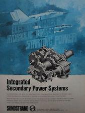 6/1975 PUB SUNDSTRAND AVIATION YF-17 F-16 SECONDARY POWER SYSTEMS ORIGINAL AD