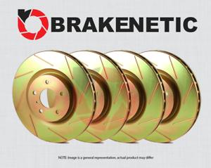BRAKENETIC SPORT SLOTTED Brake Disc Rotors BSR79663 FRONT + REAR