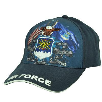 Fanartikel Freundlich U.s Air Force Vereinigte Staaten Sublimiert Mütze Militär Einstellbarer SorgfäLtige Berechnung Und Strikte Budgetierung Baseball & Softball