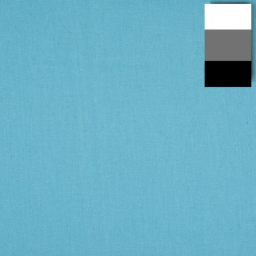 Walimex tela de fondo aprox 2,85x6m turquesa azul 100/% algodón 140g//m2
