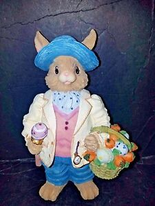 EASTER BUNNY CARRING A BASKET OF EGGS & CARROTS