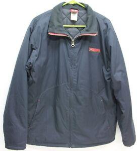 Oakley Mens Jacket Full Zip Navy Blue Quilted Liner S M