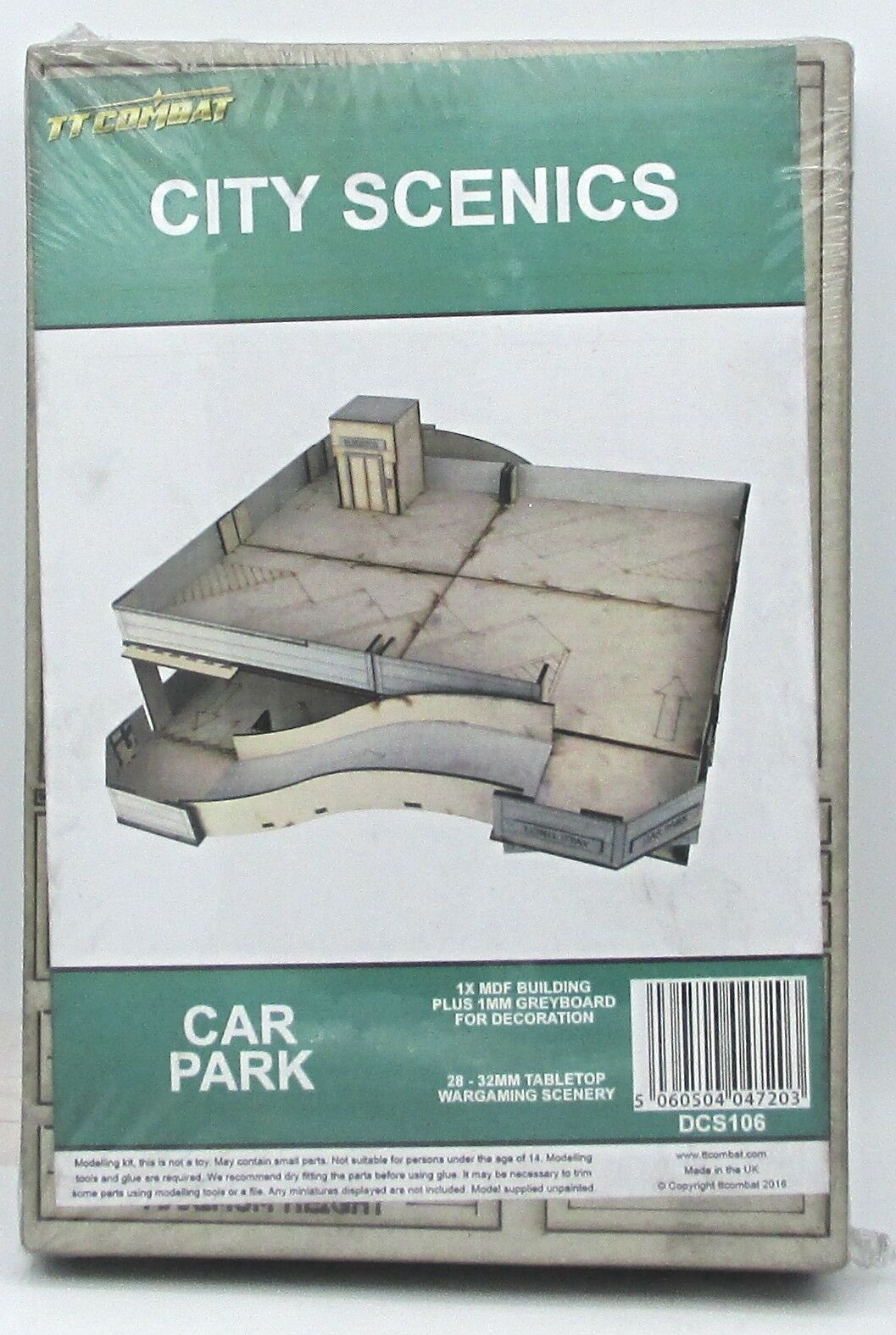 TTCombat DCS1016 Car Park (City Scenics) Terrain Kit Parking Garage Scenery NIB