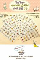 70 Toto Cat Rabbit 1st Generations Cute Deco Pvc Stickers 6 Sheets/set