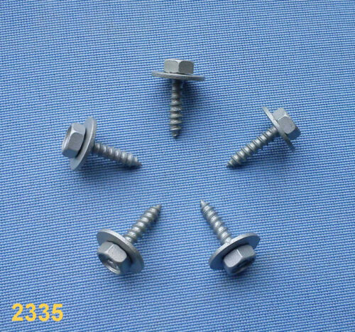 10x tornillos parachoques fijación universal parece tornillos m5 f5 plata 312
