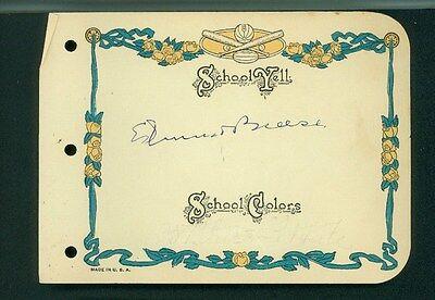 Movies Edmund Breese Vintage Signed 4x6 Page From An Autograph Album Autographs-original