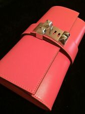 ***NEW & AUTHENTIC*** Hermes Medor 23 Clutch Pochette Rose Lipstick Pink