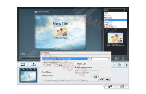 USB-Based Video Frame Grabber With Video Editing Software For Windows PC