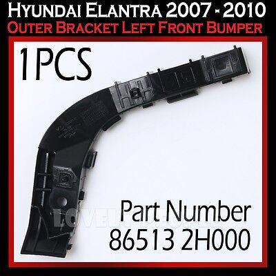 New HY1042106 Front Driver Side Bumper Bracket for Hyundai Elantra 2007-2010