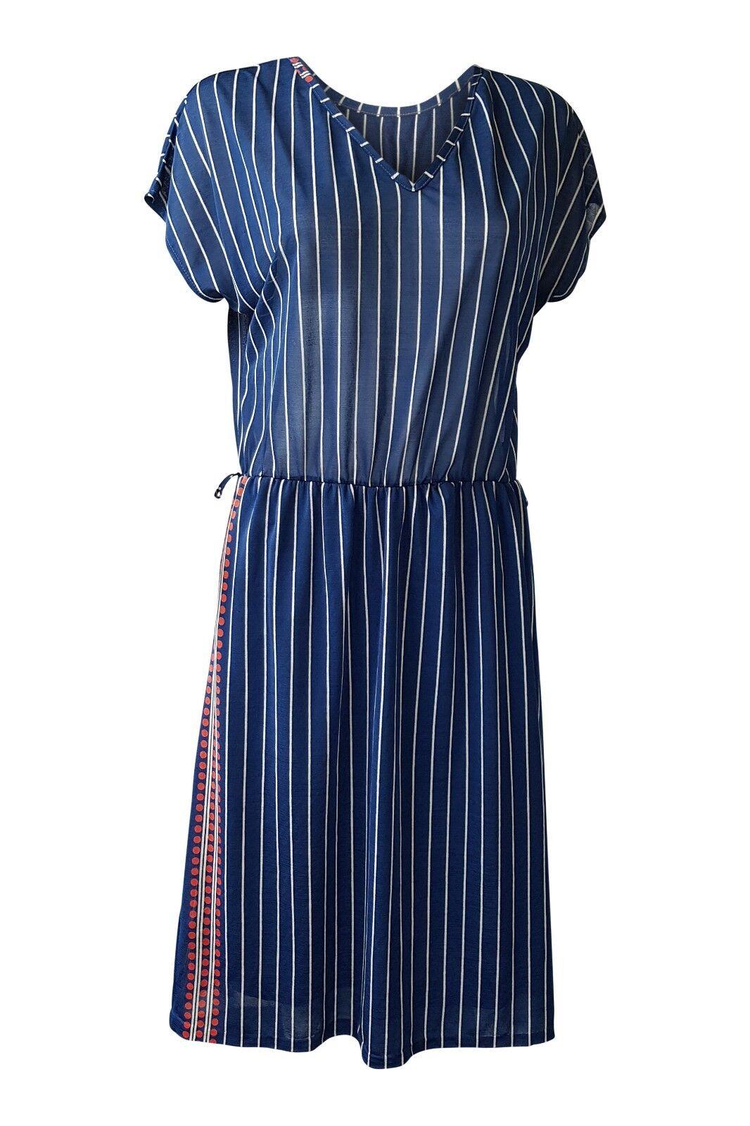 UNBRANDED VINTAGE blueE PINSTRIPE DRESS