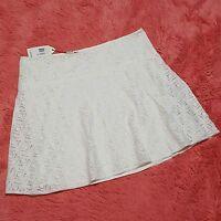 Mssp Sz Xl Skirt Lace Emma Lined A-line Womens Ivory Side Zip Knee Length