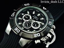 Invicta Men's 52mm I Force Swiss ISA Quartz Black Dial SS Silicone Strap Watch