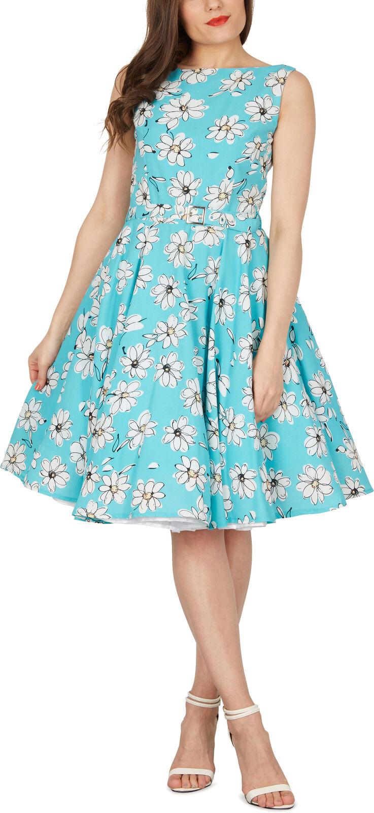Floreale 'Audrey' Vintage Daisy vintage anni'50 Rockabilly Swing Prom Dress