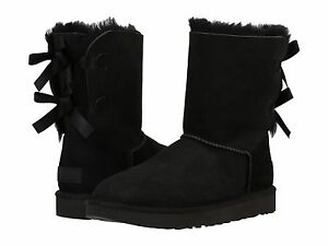 Authentic-Women-039-s-Shoes-UGG-Bailey-Bow-II-Boot-1016225-Black-New